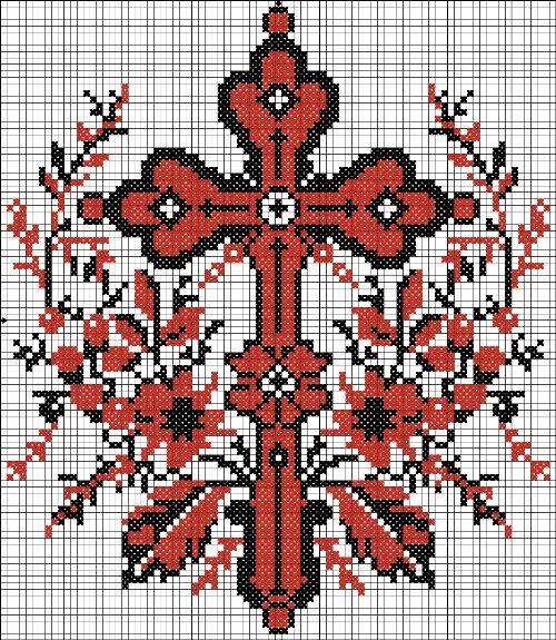 Вышивка для рушника, скатерти и салфетки, крест, пасха, скатерть, узоры, украинская вышивка, рушник, ягодки, цветочки...